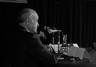 Alain Savary - Alain Savary in a radio debate during his 1973 deputy campaign