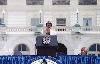 Janet Reno - Reno speaking at the 1998 National Peace Officers' Memorial Service