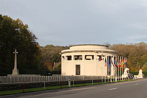 Berks Cemetery Extension with the Ploegsteert Memorial to the Missing