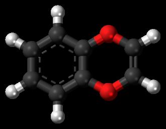 1,4-Benzodioxine - Image: 1,4 Benzodioxine 3D balls
