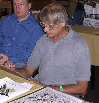 Herb Trimpe - Trimpe sketching at the Big Apple Comic Con, October 2, 2010