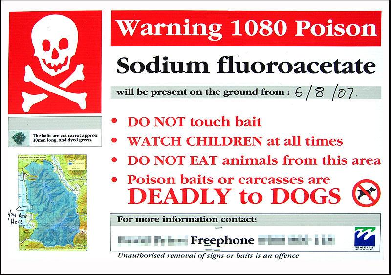 1080 poison warning