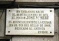 117 Aquí nasqué Josep M. Sert, c. Sant Pere Més Alt.JPG
