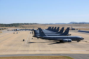 99th Air Refueling Squadron - 117th Air Refueling Wing KC-135s on the Birmingham ANGB flightline