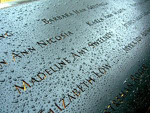 Madeline Amy Sweeney - Sweeney's name is located on Panel N-74 of the National September 11 Memorial's North Pool, along with those of other passengers of Flight 11.