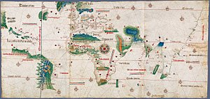 Portuguese discoveries - The Cantino planisphere, made by an anonymous cartographer in 1502, shows the world as it was understood by Europeans after their great explorations at the end of the fifteenth century.