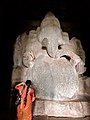 15th century Kadalekalu Ganesha statue, Hampi Hindu monuments Karnataka 2.jpg