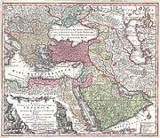 1730 Seutter Map of Turkey (Ottoman Empire), Persia and Arabia - Geographicus - MagniTurcarum-seutter-1740