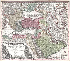 Ottoman Iraq - Image: 1730 Seutter Map of Turkey (Ottoman Empire), Persia and Arabia Geographicus Magni Turcarum seutter 1740
