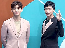 Max Changmin and U-Know Yunho during 2018 Seoul Fashion Week