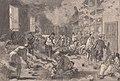1878-11-23, Le Monde illustré, Leganés près Madrid, Précautions prises contre la fiévre jaune, Les fumigations qu'on fait subir à l'armée revenant de Cuba, Vierge (cropped).jpg