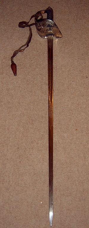 Swords in courts-martial - 1897 pattern British infantry officer's sword, regulation sword for officers of the line infantry of the British Army since 1897.