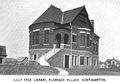 1899 Northampton FlorenceVillage public library Massachusetts.png