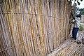 18 mai 2015, Nyunzu, Katanga, RD Congo - Un homme termine l'installation d'une clôture en bambou autour de son terrain. (18255780185).jpg