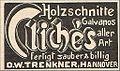 1906 circa D. W. Trenkner Hannover Holzschnitte Galvanos Cliches.jpg