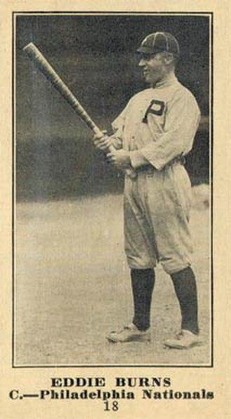Ed Burns (baseball) - Image: 1916 Sporting News Eddie Burns