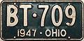 1947 Ohio license plate.JPG