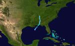 1948 Atlantischer Tropensturm 2 track.png