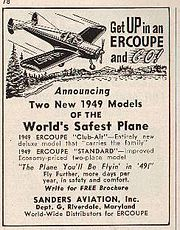 1949 Ercoupe Advertisement in Flying