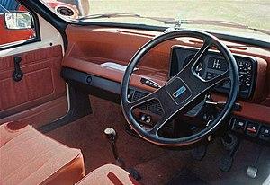 Austin Metro - The interior of a 1980 Austin Metro MkI.