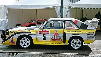 Walter Röhrl - Röhrl's final WRC victory came at the wheel of an Audi Sport Quattro S1 E2 at the 1985 Rallye Sanremo. The car was paraded at the Ignition Festival of Motoring in 2017.