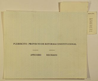1989 Chilean constitutional referendum - Original ballot