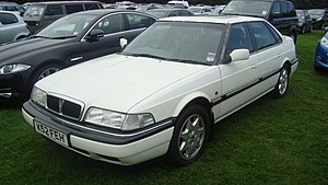 Rover 800 Series - 1995 Rover 825SD saloon (post-R17 facelift, but a year before minor changes including smoked rear lights)