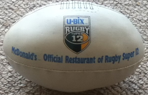 Super Rugby -  Super 12 rugby ball, 1999.