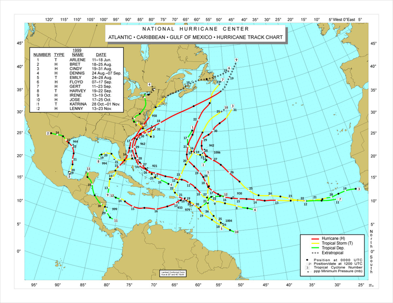 File:1999 Atlantic hurricane season map.png