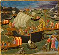 1 Pesellino, Journey of the Magi, Melchior Crossing the Red Sea, ca. 1440-45, Williamstown, Sterlink and Francine Clark Art Institute.jpg