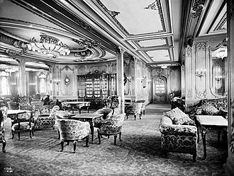 RMS Titanic - 1st-Class Lounge on the RMS Olympic