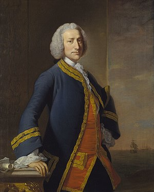 Edward Hawke, 1st Baron Hawke - Lord Anson, First Lord of the Admiralty from 1751. While the relationship between the two men was often strained, they had a mutual respect for each other.