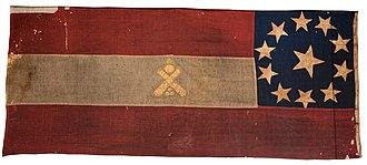 2nd Arkansas Field Battery - Confederate 1st National Flag, Dallas Artillery