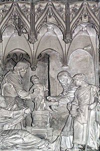 Circumcision of Jesus, sculpture in the Cathedral of Chartres.