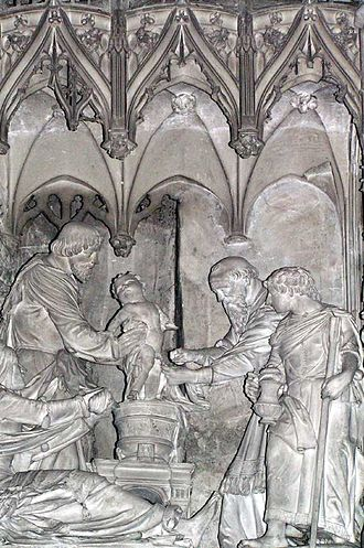 Paul the Apostle and Judaism - Circumcision of Christ, sculpture in the Cathedral of Chartres.