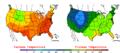 2006-05-31 Color Max-min Temperature Map NOAA.png