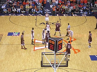 Virginia–Virginia Tech rivalry - Virginia Tech meets Virginia for the Hokies' first visit to John Paul Jones Arena on March 1, 2007. The Cavaliers won the game 69–56, and clinched a share of their fifth ACC season title. If VT had won, they would have had their first.