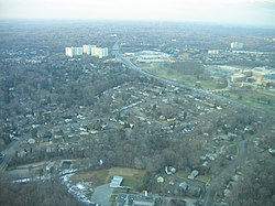 Aerial view of White Oak, Maryland, in January 2007.