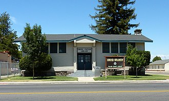 Orosi, California - The Orosi Branch Library is on the National Register of Historic Places