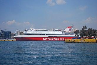 MS Superfast XII - Image: 20100412 egine 27