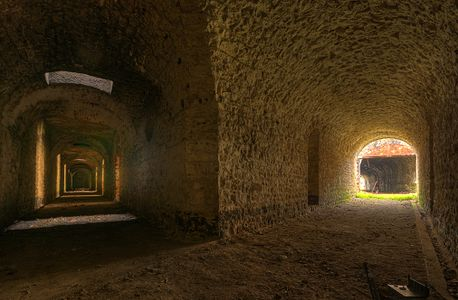 Inside the Fort des Hautes Perches, near Belfort, France.
