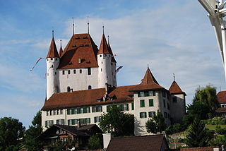 castle in the municipality of Thun in the Swiss canton of Bern