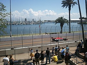 Firestone Grand Prix of St. Petersburg - Stefan Wilson driving along the Bay Shore Drive Southeast section during the qualifying race of the Indy Lights 2011.