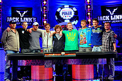 2011 world series of poker main event how many sections on a roulette wheel
