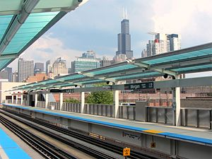 Morgan station - Image: 20120520 27 CTA L @ Morgan
