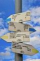 2012 Rybnik, Znaki szlaków rowerowych przy Rondzie Europejskim (02).jpg