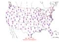 2013-01-27 Max-min Temperature Map NOAA.png