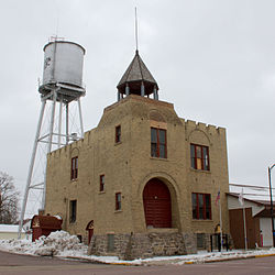 Gibbon Village Hall, built in 1895, is listed on the National Register of Historic Places.[1]