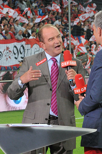 Herbert Prohaska - Prohaska working for the ORF in 2013