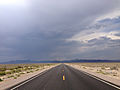 2014-07-17 15 07 37 View north along Nevada State Route 375 about 8.5 miles south of the Nye County Line in Rachel, Nevada.JPG
